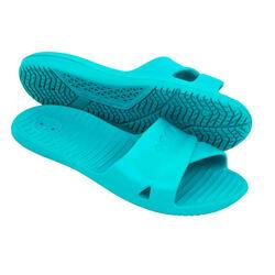Chinelos de Natação Mulher Slap 100 Basic - Azul mar