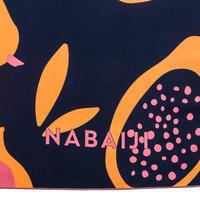 Mikropluošto rankšluostis plaukimui, XL dydžio, 110 x 175 cm, su raštu