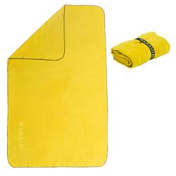 Toalha de natação de microfibras amarelo escuro tamanho L 80 x 130 cm