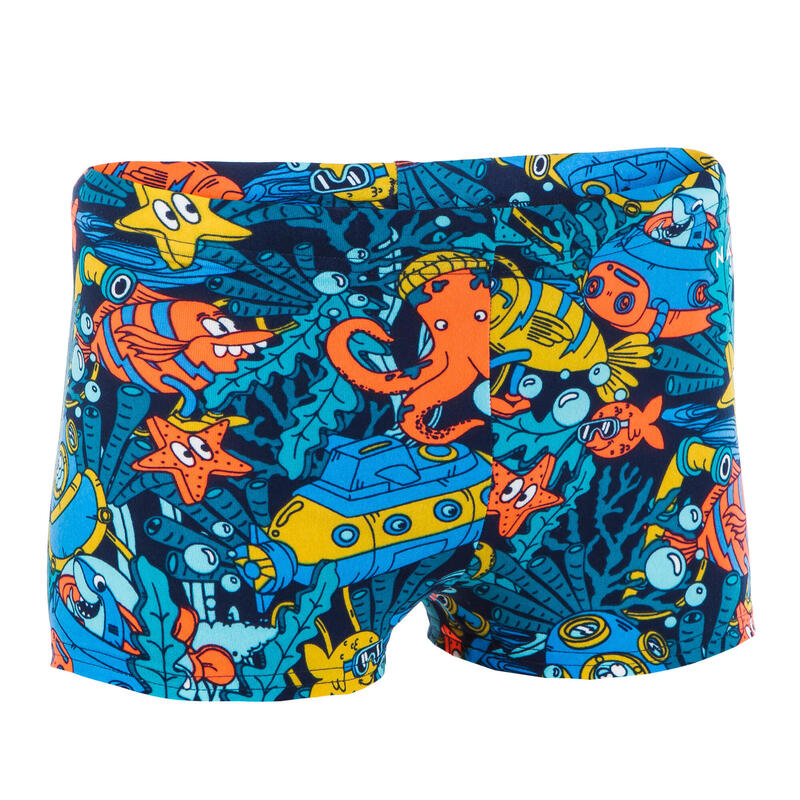 Chlapecké boxerkové plavky Fitib All Marin tyrkysové