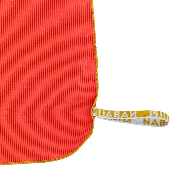 Toalha de natação de microfibras às riscas laranja escuro tamanho L 80 x 130 cm