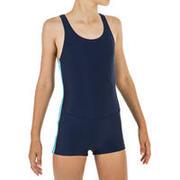 Girl's 1-piece Vega Shorty Swimsuit - Navy Blue
