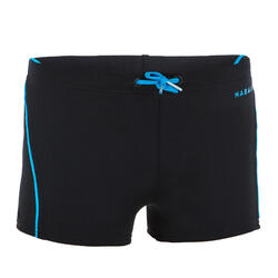 BOYS' SWIMMING BOXER 100 PLUS - BLACK