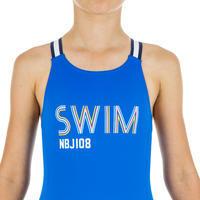 Maillot de bain de natation fille 1 pièce vega swim bleu