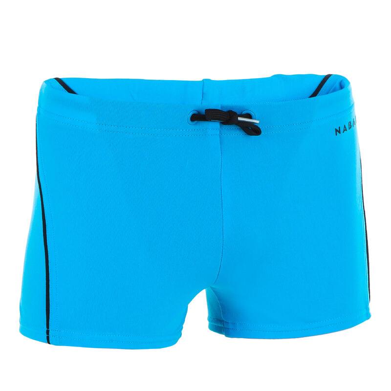 Zwemboxer voor jongens 100 Plus blauw