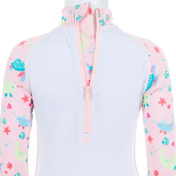 UV-Schwimmanzug langarm Babys/Kleinkinder bedruckt rosa