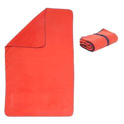 Serviette de bain microfibre orange foncé taille XL 110 x 175 cm