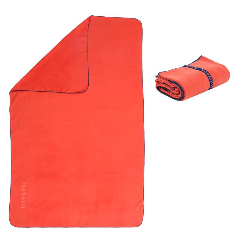 Toalha de natação microfibra laranja escuro tamanho XL 110 x 175 cm