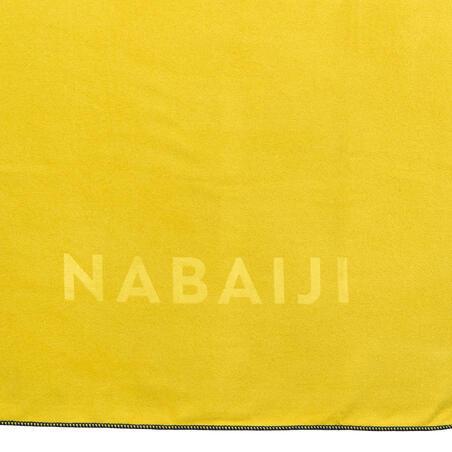 Swimming Microfibre Towel Size L 80 x 130 cm - Dark Yellow