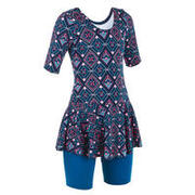 Girls' One-Piece Swimsuit Audrey Jammer All Leja - Pink Blue