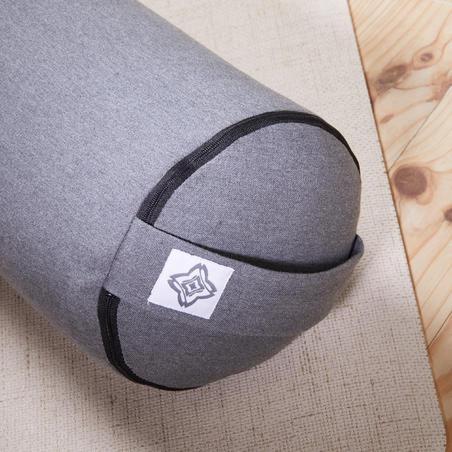 Firm Cotton Yoga Bolster/Cushion - Mottled Grey