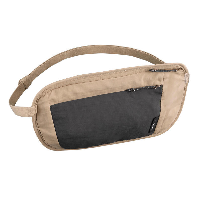 Onopvallende heuptas voor backpacken TRAVEL RFID beige