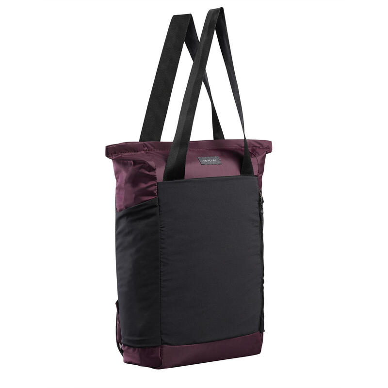 Compact 2-in-1 Tote Bag - TRAVEL 15 L Burgundy