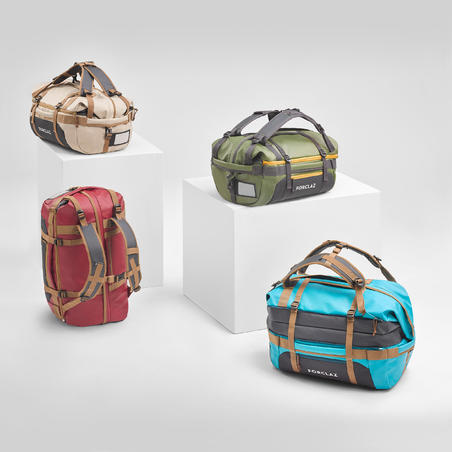 Trekking carry bag - Duffel 500 Extend - 40 to 60 litres - Burgundy