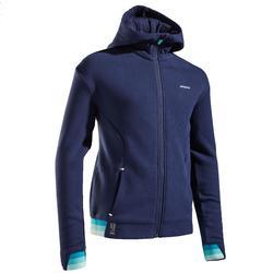 Thermo tennisjas voor meisjes marineblauw