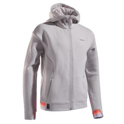 Veste tennis thermique fille grey light