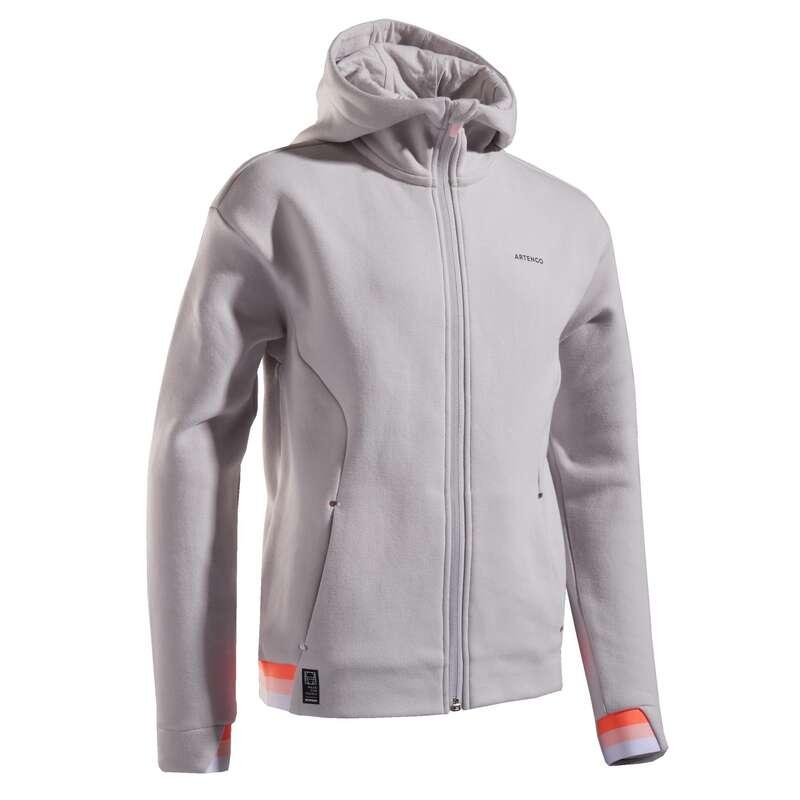 DJEČJA ODJEĆA ZA TENIS PO HLADNOM VREMENU Tenis - Jakna topla siva ARTENGO - Dječja odjeća za tenis