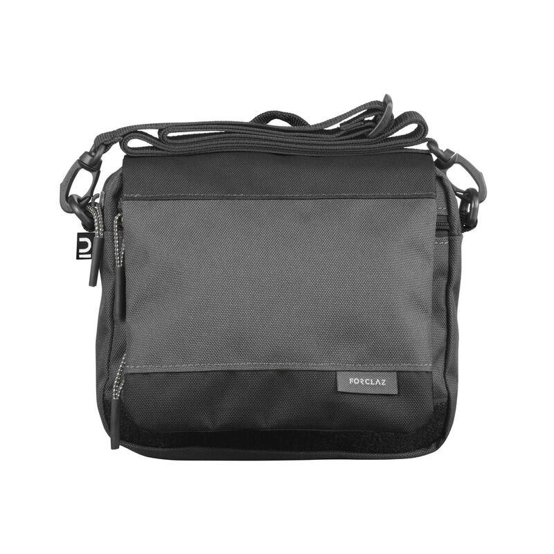 Schoudertas met veel zakken voor backpacken Travel zwart