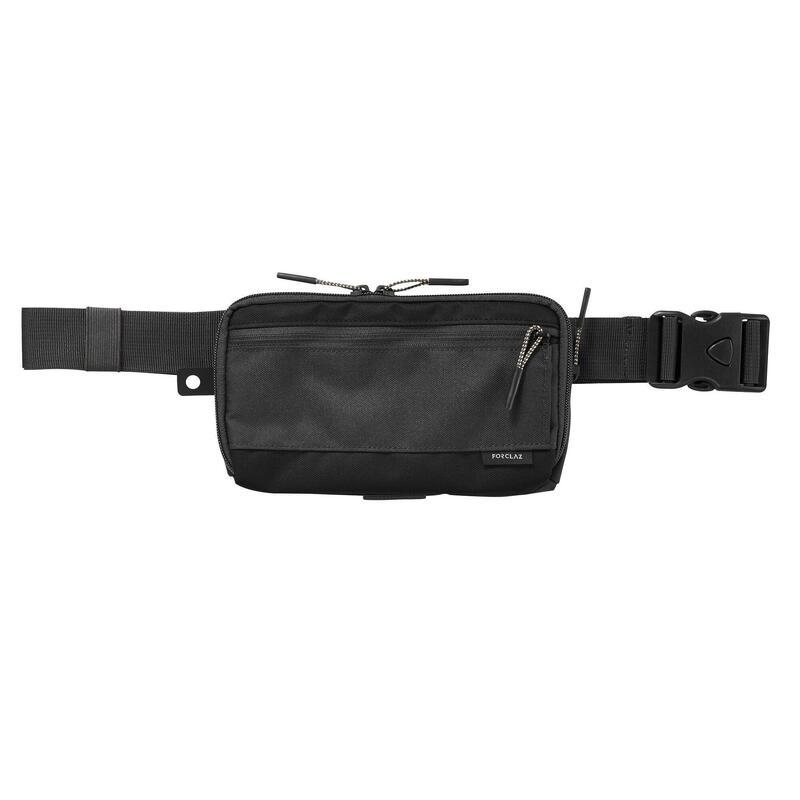 Ruime portefeuille/organizer voor backpacken Travel XL zwart