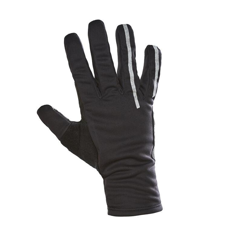 Zimní cyklistické rukavice 500 černé