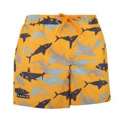 衝浪褲SHARK-黃色