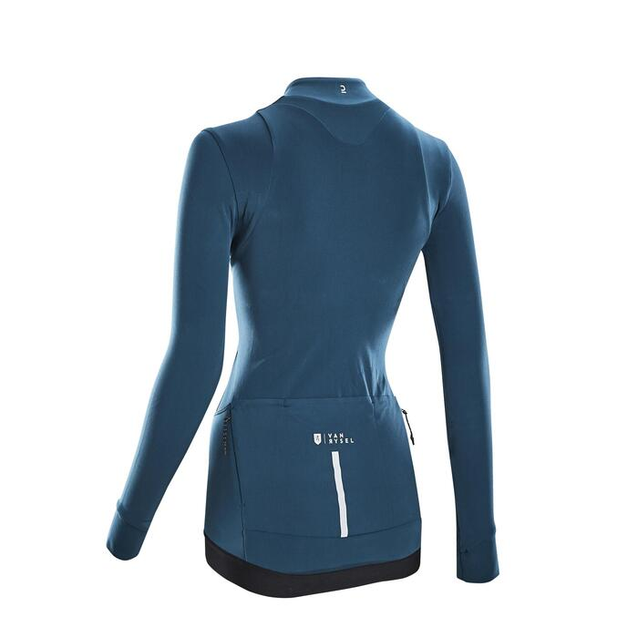 MAILLOT VELO ROUTE MANCHES LONGUES RCR FEMME EMERAUDE