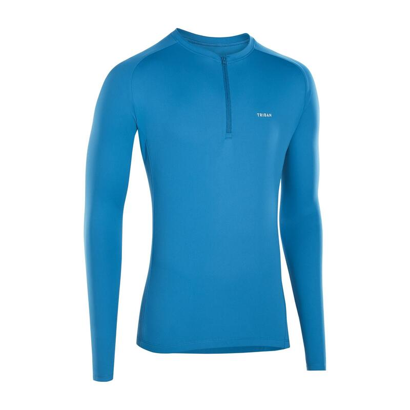Anti-UV Long-Sleeved Cycling Jersey Essential - Blue