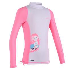 女童款抗UV長袖上衣500-第1款