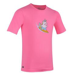 女童款水上運動T恤JR 100 MC-獨角獸款