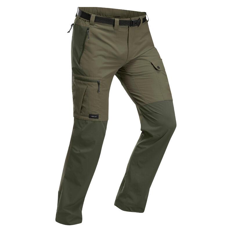 Pantalon résistant de trek montagne - TREK 500 kaki - homme