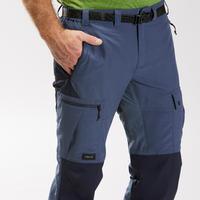 """Vyriškos tvirtos kalnų žygių kelnės """"Trek 500"""", mėlynos"""