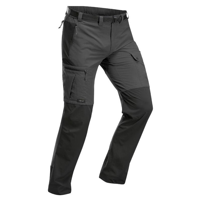 Pantalon résistant de trek montagne - TREK 500 gris foncé - homme