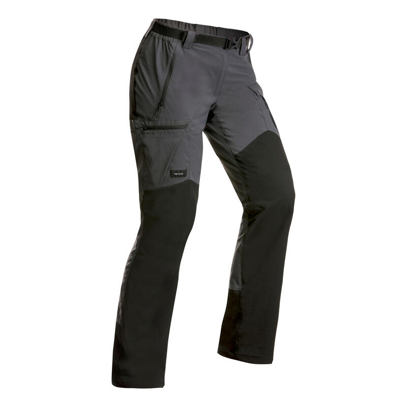 Women's Mountain Trekking Resistant Trousers - MT 500 v2 Dark Grey