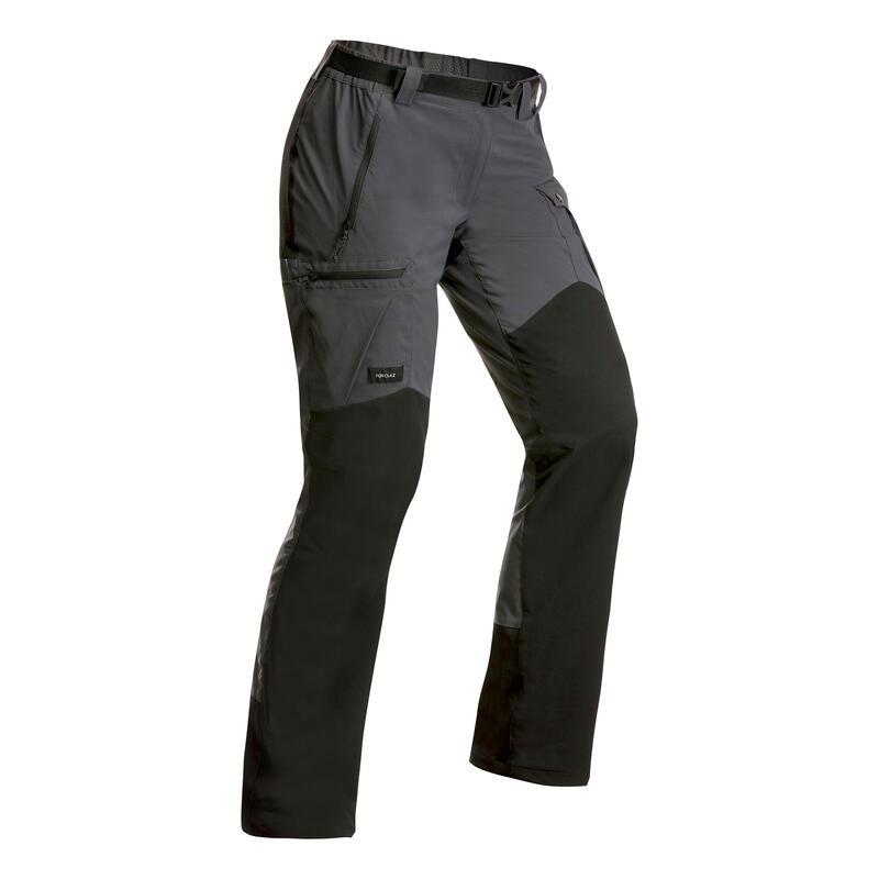Stevige broek voor bergtrekking dames Trek 500 donkergrijs v2