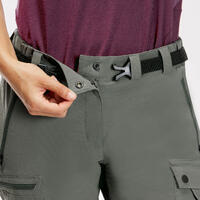 Women's Durable Mountain Trekking Trousers Trek 500 V2 - Khaki