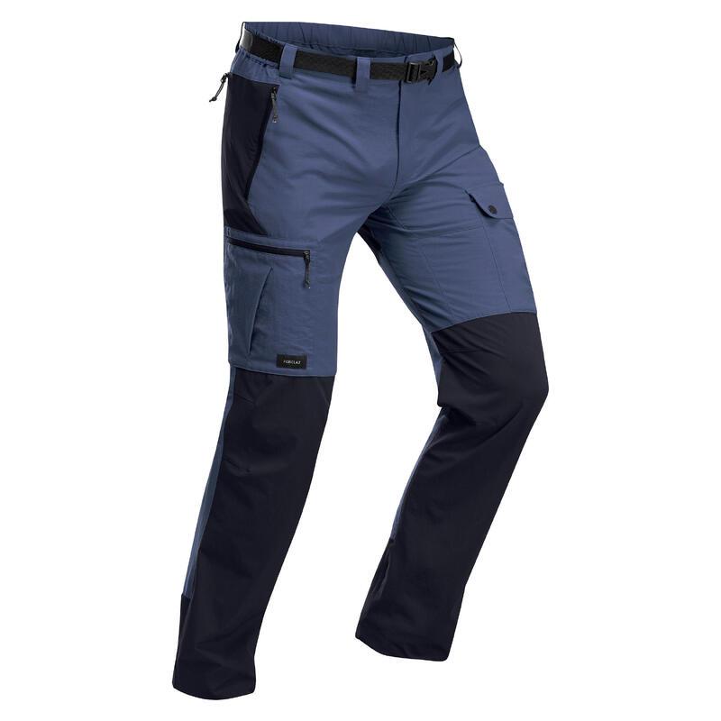 Stevige broek voor bergtrekking heren Trek 500 blauw
