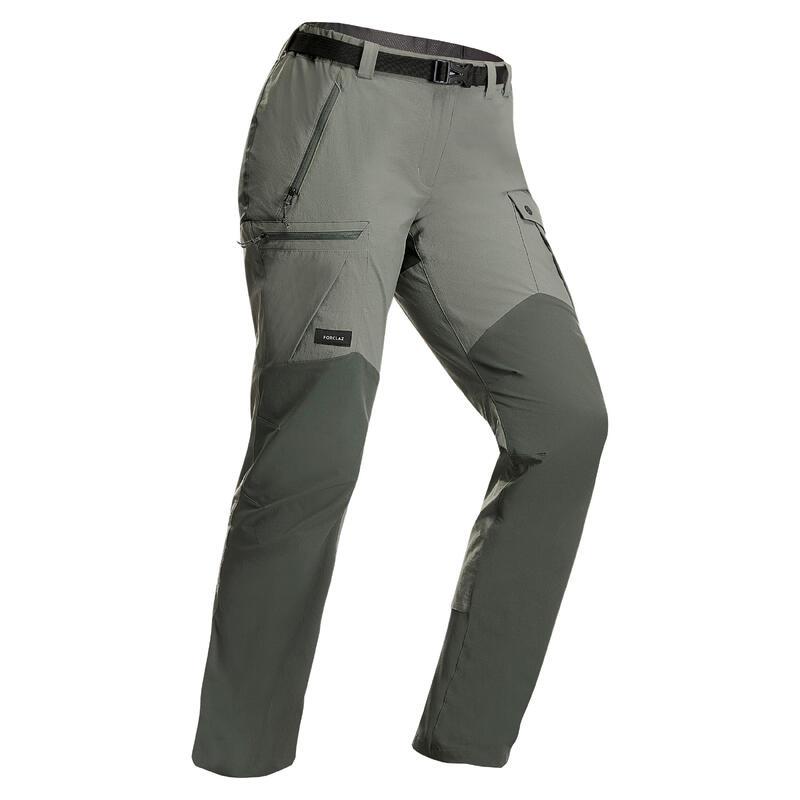 Women Mountain Trekking Resistant Trousers - MT 500 v2 Khaki