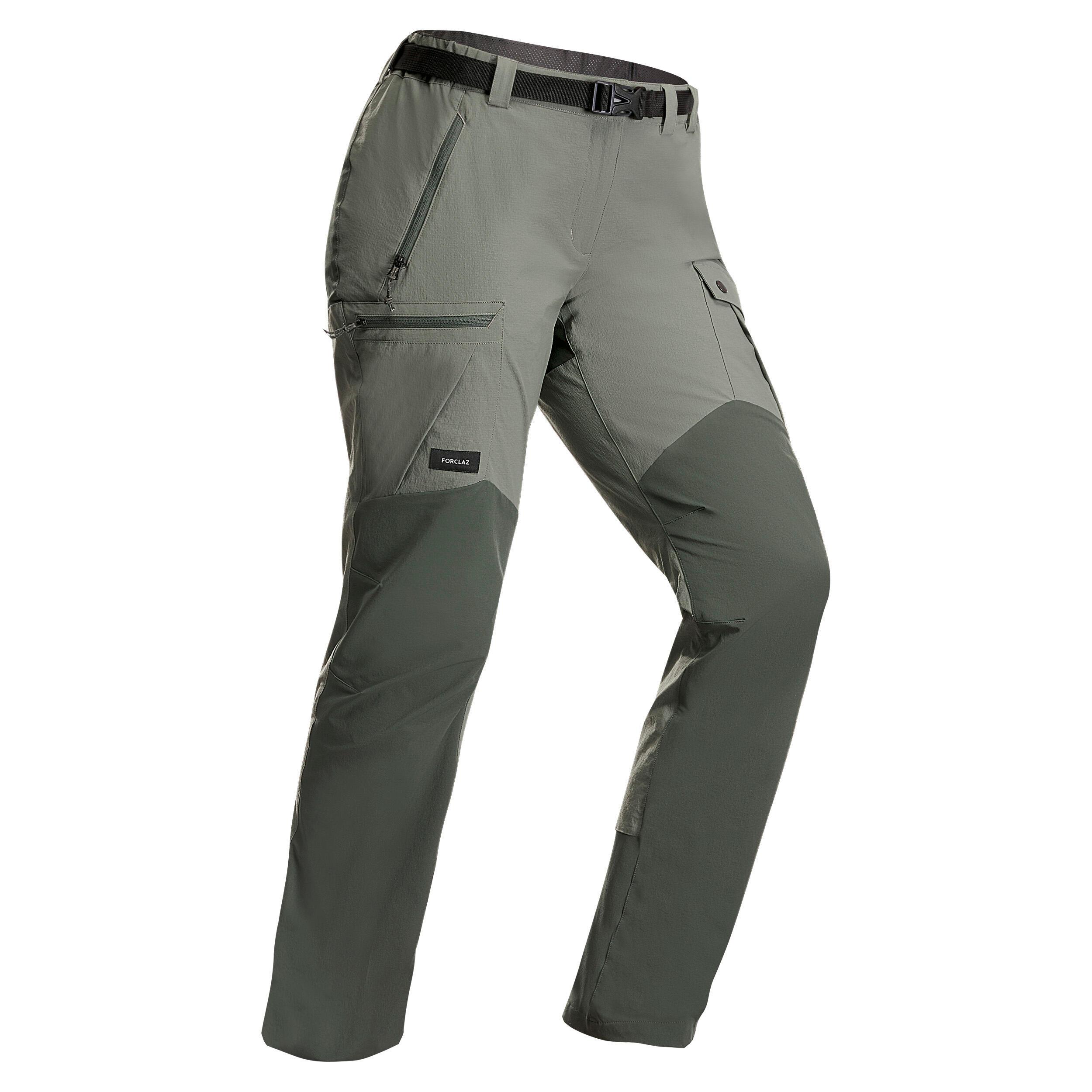 Pantalon Trek 500 Kaki Damă imagine