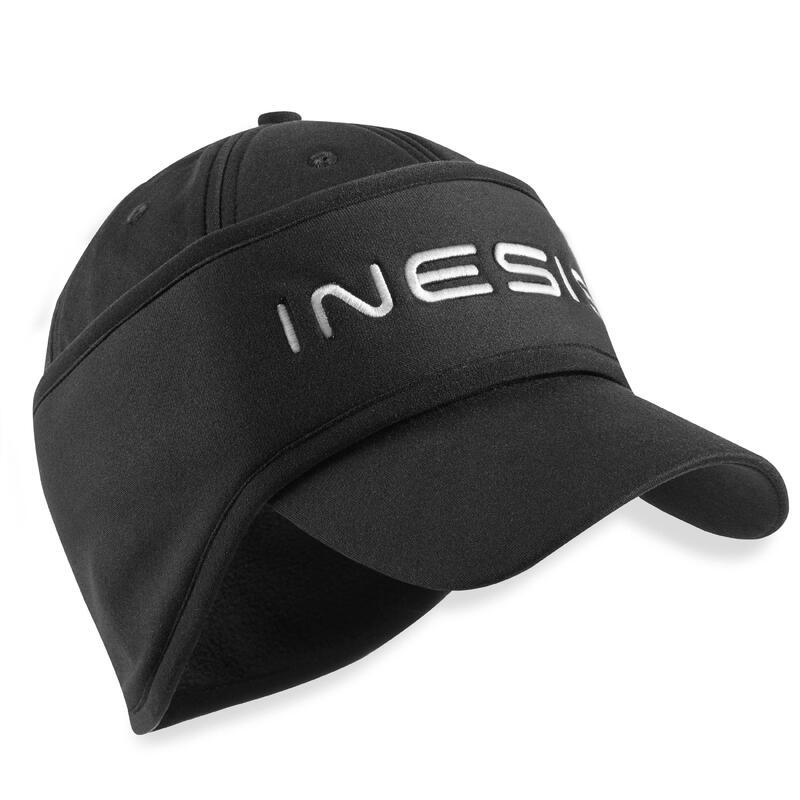 Golfpet met hoofdband voor dames winter CW500 zwart