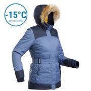 Women's Snow Parka WARM & WATERPROOF SH500 X-Warm - Blue