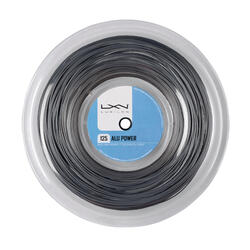 BOBINE DE CORDAGE TENNIS LUXILON ALU POWER GRIS 1.25 mm DE 200 M