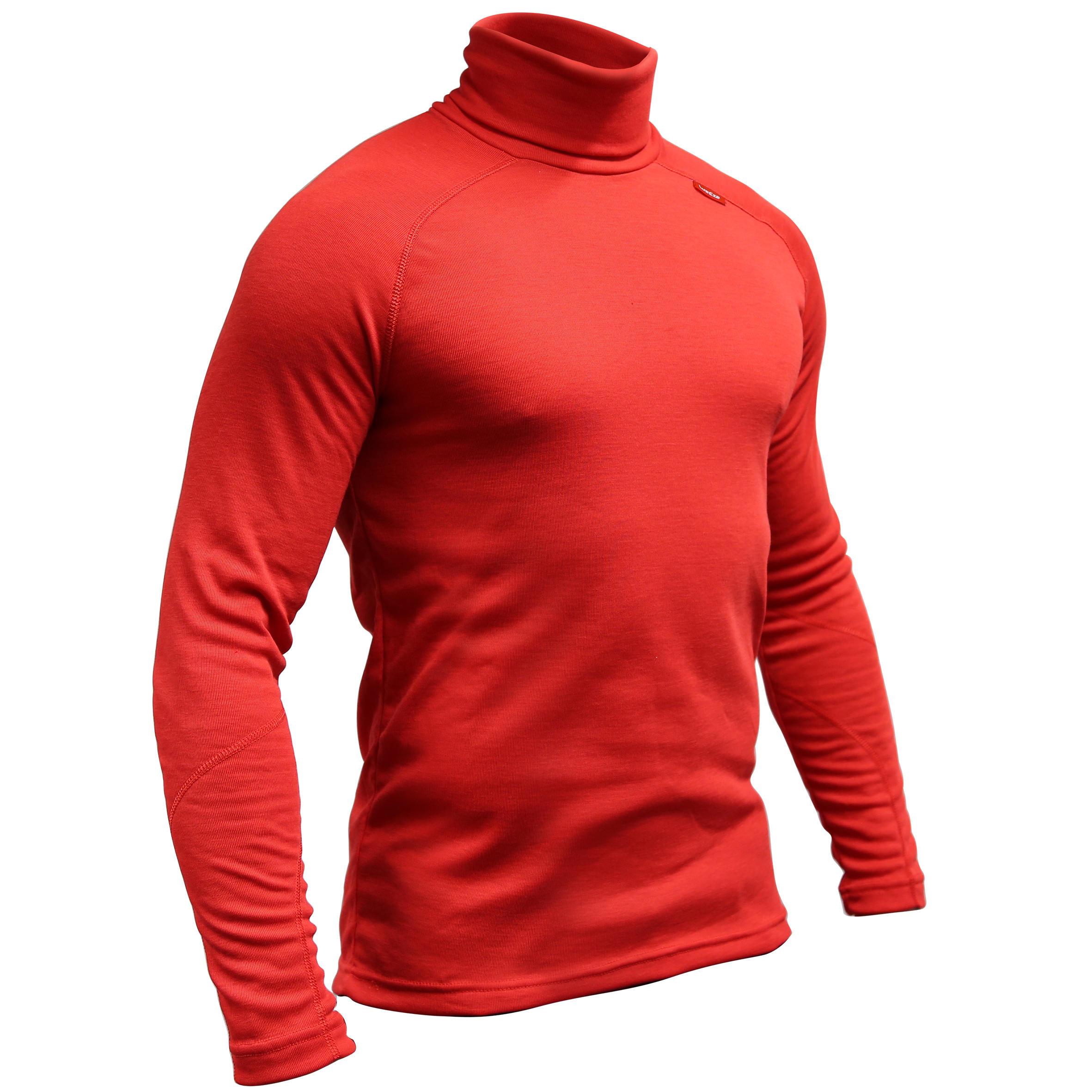 Wed'ze interior Hombres Red Ski Roller Warm Collar Simple Ropa XwOkTiuPZ