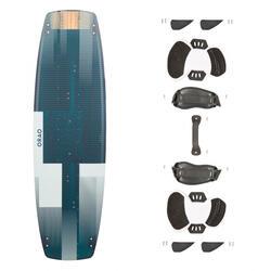 Kiteboard Kitesurfen Twin Tip 500 Carbon 136×40,5cm inkl. Pads und Straps
