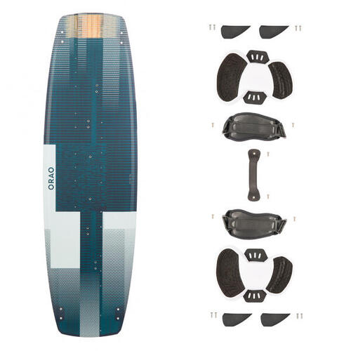 PLANCHE DE KITESURF ''TWIN TIP 500'' CARBONE - 136X40,5CM (PADS ET STRAPS INCLUS)