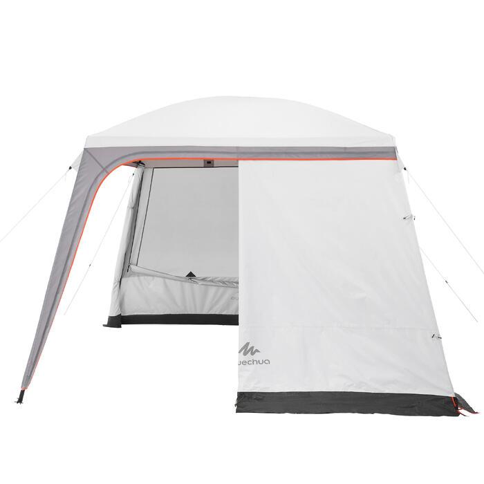 Pavillon Arpenaz 3×3m mit Türen 10 Personen Camping LSF 50+ Fresh&Black weiß