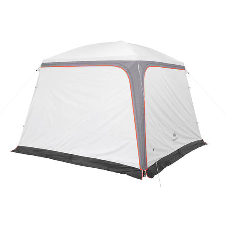 CAMPING LIVING ROOM WITH DOORS/ARPENAZ CAMP 3x3 10 PEOPLE. UPF50+FRESH WHITE
