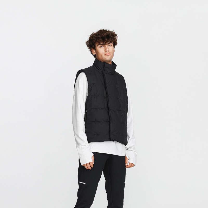 Férfi őszi-téli ruházat - rendszeres Futás - Férfi futómellény WARM + KALENJI - Futás