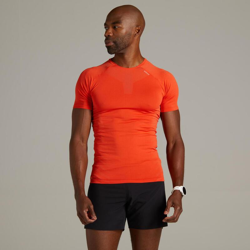 Kiprun Skincare Men's Running Breathable T-shirt - red