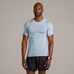 T-shirt running uomo KIPRUN SKINCARE nera