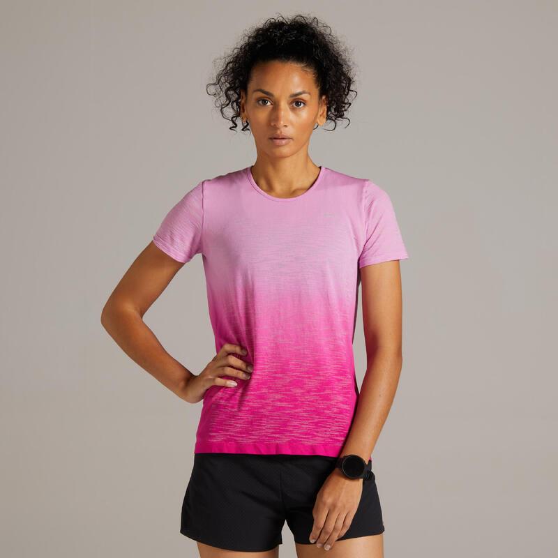 Kiprun Care Women's Running Breathable T-Shirt - soft pink